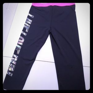 Black and Pink Live Love Dream Yoga Pants